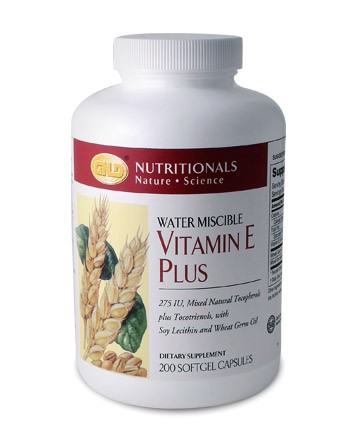 Vitamin E Plus, 200 capsules 275 IU